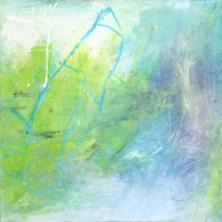 Bateau - Acryl und Pigmente auf Buchbinderpappe - 40 x 40 cm