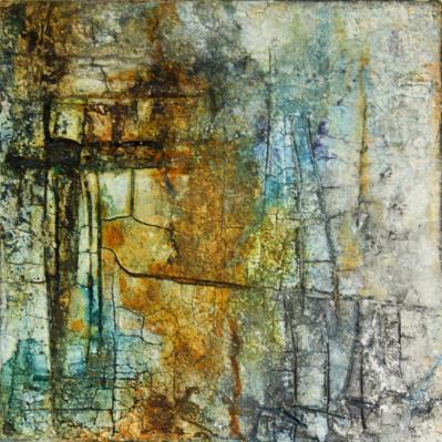 Petit bleu - Sumpfkalk, Pigmente und Tuschen, Kunst-Kubus - 20 x 20 cm