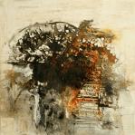 Der Weg - Marmormehl, Öle, Pigmente, Beizen und Sumpfkalk auf Leinwand - 100 x 100 cm (verkauft)