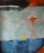 Eisig - Acrylfarben und Pigmente auf Leinwand - 100 x 120 cm