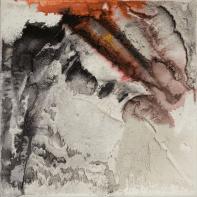 Farbklang VII - Baumaterial, Marmormehl, Dispersionsbinder auf Leinwand - 40 x 40 cm