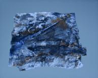 Fragil II - Seidenbastelpapier, Baumaterial, Beizen und Pigmente auf Aluminiumplatte - 40 x 40 cm