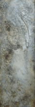 Serie Transparenzen - Geheimnis II - Marmormehl, Sumpfkalk und Tuschen auf Leinwand - 120 x 40 cm