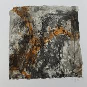 Geschenk - Seidelbast - für einen Freund - Seidelbastpapier, gerahmt - 30 x 30 cm