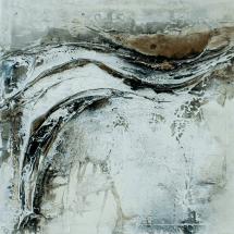 Grisaille - Marmormehl, Pigmente, Beizen und Öle auf Leinwand - 100 x 100 cm (verkauft)