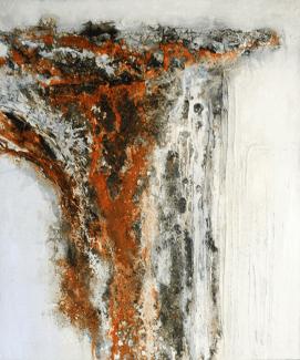 Norway - Marmormehl, Sumpfkalk, Pigmente und Beizen auf Leinwand - 120 x 100 cm