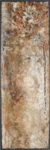 Transparenz Rouge I - Sumpfkalk, Marmormehl und Pigmente auf Holz, gerahmt - 120 x 40 cm