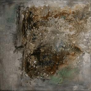 Verlust - Marmormehl, Sande, Sumpfkalk und Pigmente auf Leinwand - 100 x 100 cm