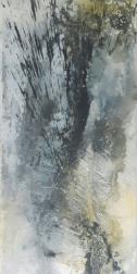 Serie ZEN - ZEN II - Marmormehl, Tuschen, Pigmente und ZEN-Tusche-Strich auf Leinwand - 60 x 120 cm