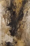 Entschieden III – Marmormehl, Tuschen, Pigmente, Gold-Zen-Strich – 50 x 70 cm – LW - Kunstakademie Allgäu - 2017
