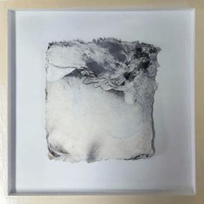 Keine Kostbarkeiten IX - Seidelbastpapier, Baumaterial, Sumpfkalk, Pigmente, Tuschen – 30 x 30 cm – Kunstfabrik Hannover 2017