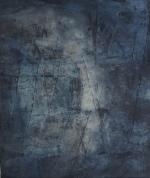 Sichtbarwerdung des Unsichtbaren – Baumaterial, Sumpfkalk, Tuschen, Pigmente – 120 x 100 auf LW