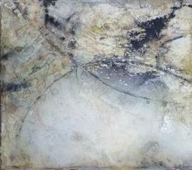 Sommernachtstraum I - Seidelbastpapier, Baumaterial, Tuschen, Pigmente – 70 x 70 cm – Kunstfabrik Hannover 2017