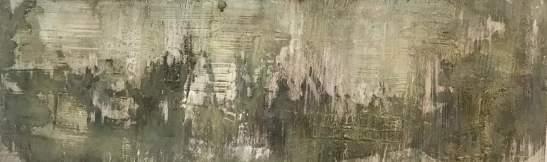 Ergünden der Tiefe - 120 x 40 – Holzgrund – Sumpfkalk – Marmormehl – Pigmente – Wachs