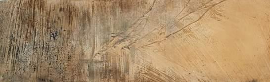 Havanna – 120 x 40 – Holzgrund Sumpfkalk – Marmormehl – Pigmente - Tuschen
