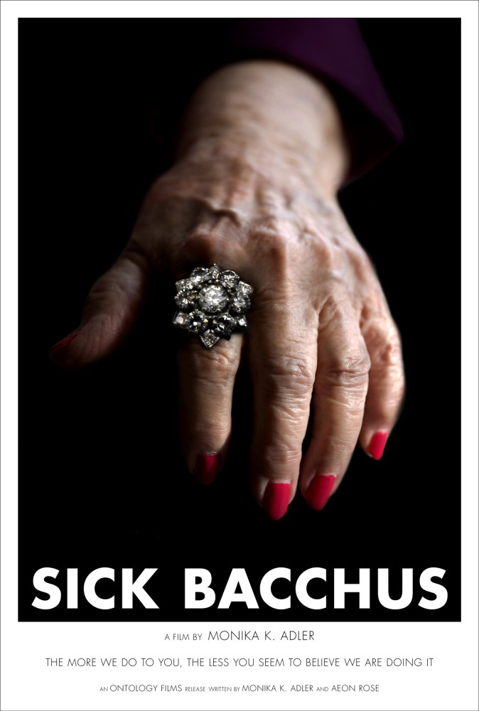 Feature Film Sick Bacchus Movie Poster, concept poster, Directed By: Monika K. Adler, Ontology Films, Screenplay, Monika K. Adler, Aeon Rose
