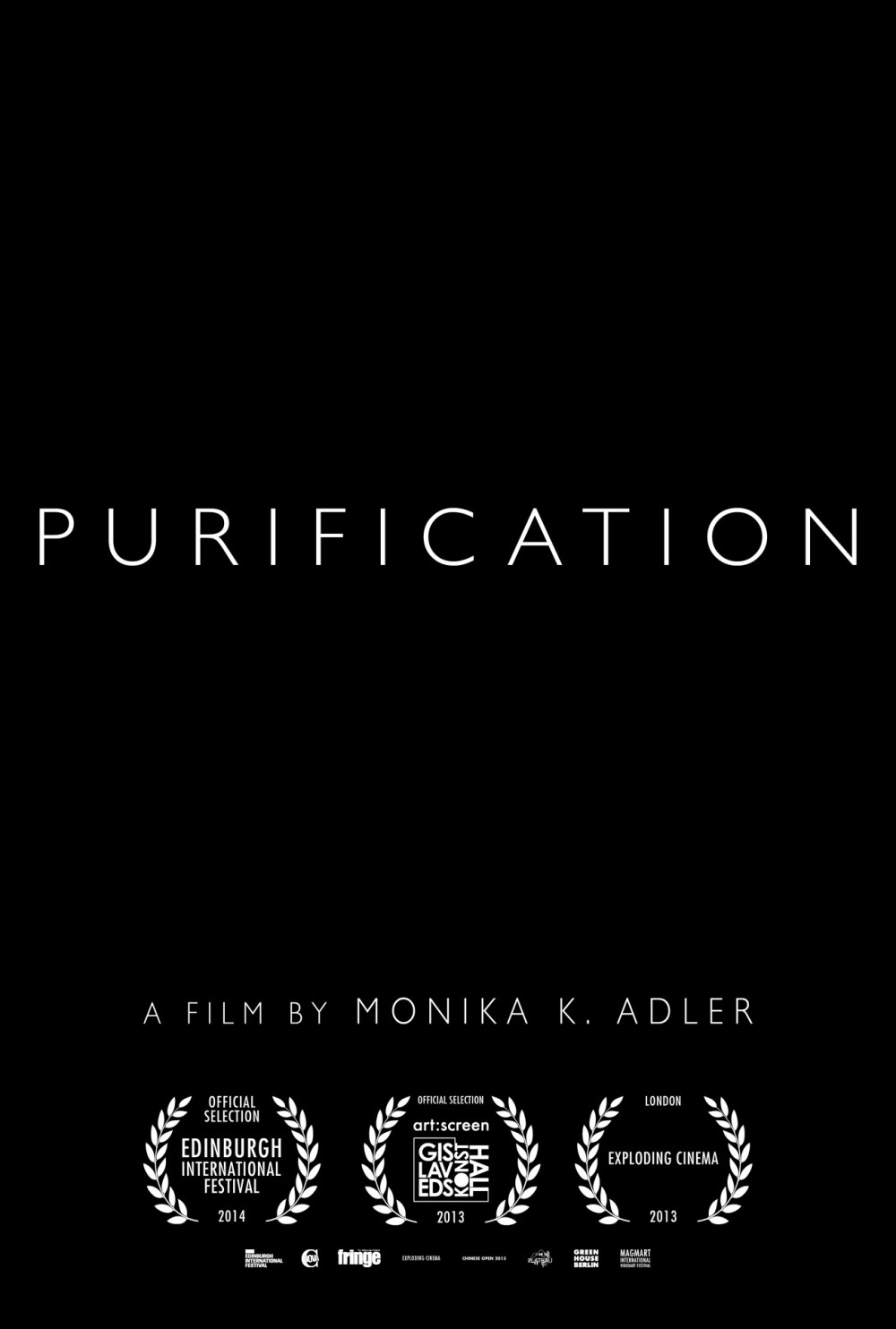 Monika K. Adler, Purification, 2013, film poster, Aeon Rose