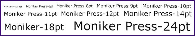 Moniker Risograph Type