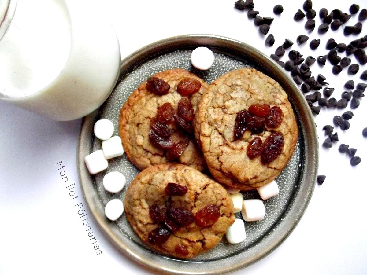 """""""Mi-noix, mi-choco"""" : Les Cookies crousti-moelleux Chocolate chunks et Noix glacées"""