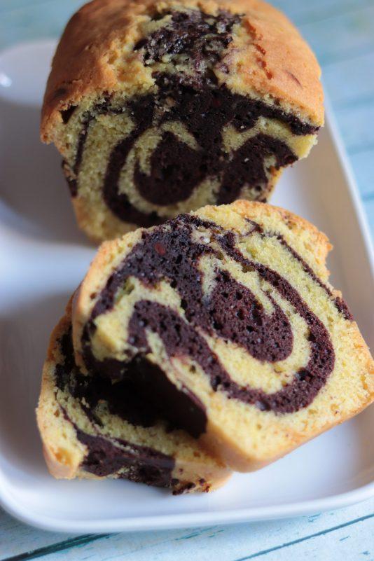 Découpe Cake marbré