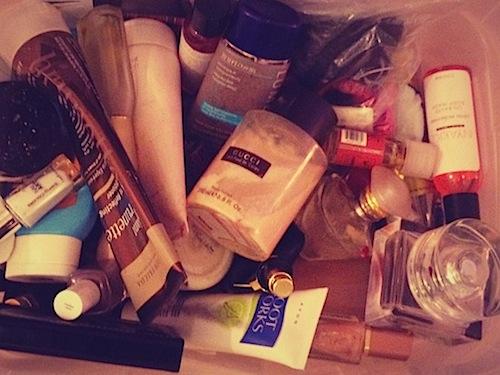 Last weekend's beauty product purge