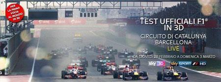 Primo test sulla Formula 1 in 3D e un grande successo per Sky Sports F1 HD e RAI