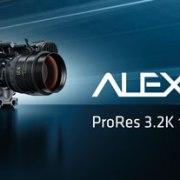 Nuovo Prores 3.2K per l'Alexa per file in UHD