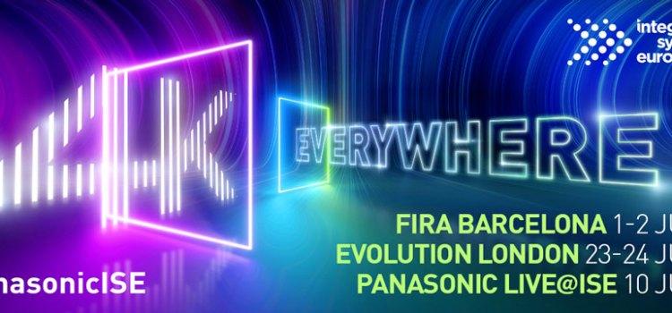 A ISE 2021, Panasonic ha presentato la gamma completa di proiettori e display 4k