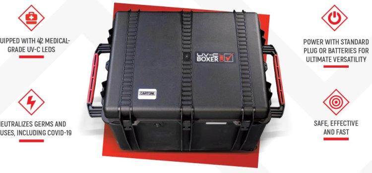 Un box di disinfezione portatile per apparecchiature cine e video