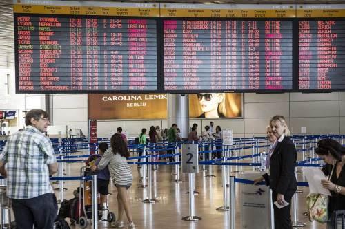 El Aeropuerto Ben Gurion de Tel Aviv cerrado a causa de los misiles de Hamás en Julio de 2014.