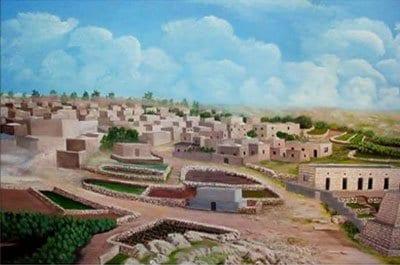 El pueblo de Al-Muzayri'a antes de 1948.