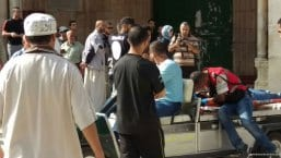 Palestinian-medics-at-aqsa-after-Israeli-forces-clash-during-ramadan-2016-4