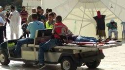 Palestinian-medics-at-aqsa-after-Israeli-forces-clash-during-ramadan-2016-5