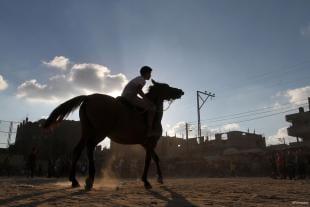 GAZA, PALESTINA: Corre como el viento!