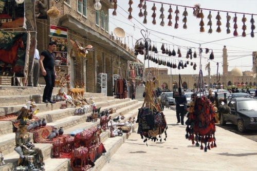 Imágenes de las calles de abajo de la ciudadela. Erbil, Irak. Fotografía: Flickr/ Adam Jones