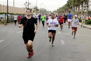 EL CAIRO, EGIPTO: Maratón por la concienciación del cáncer de mama.