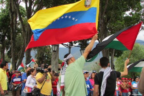 Los venezolanos se reúnen en apoyo de Palestina (venezuelanalisys)