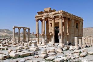 Foto de archivo del Templo de Baalshamin, en el yacimiento histórico de Palmira, Siria