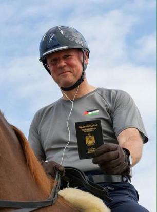 RIO DE JANEIRO, BRASIL: Christian Zimmermann, un jinete palestino nacido en Alemania, representa a Palestina en los Juegos Olímpicos. [Twitter: @lfpme]