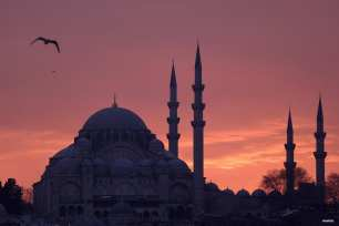 ESTAMBUL, TURQUÍA: Al atardecer