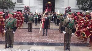 Desfile militar festejando la Toma de Granada por los Reyes Católicos el 2 de Enero de 1492.