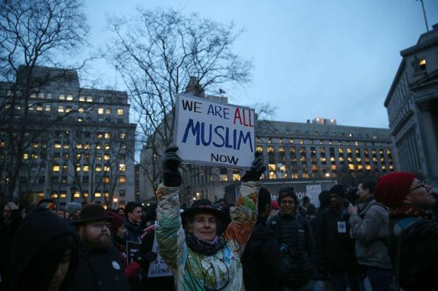 """NUEVA YORK, ESTADOS UNIDOS - 1 DE FEBRERO: """"Todos somos musulmanes"""""""