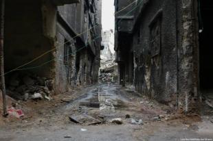 Campo de refugiados de Yarmouk en Siria en 2014 [Laila Ben Allal / Monitor de Oriente]