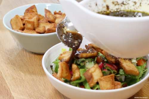 Tamr hindi, fattoush y kubbeh bil siniyeh