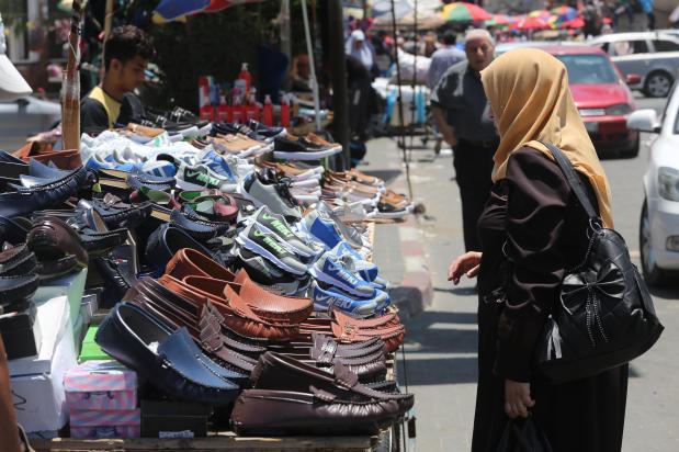 Los gazatíes celebran el Aid al-Fitr (Mohammad Asad/MEMO)