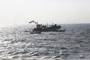 El barco de la Flotilla sale de Gaza, 11 de agosto de 2018 [Monitor Muhammed Asad / Oriente Medio]