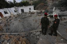 Edificios dañados tras los ataques aéreos de Israel contra Gaza, 8 de agosto de 2018 [Mohammed Asad / Middle East Monitor]