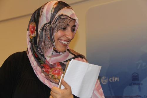 La ganadora del Premio Nobel de la Paz de Yemen…