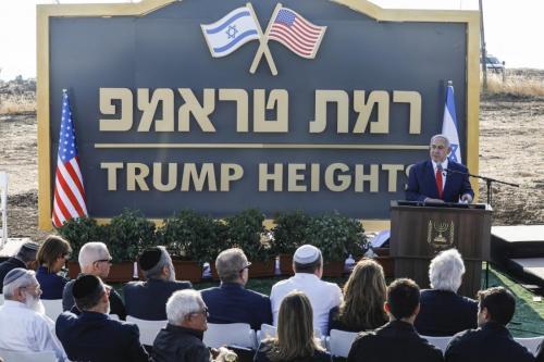 Netanyahu inaugura el asentamiento israelí 'Trump Heights' en los Altos…