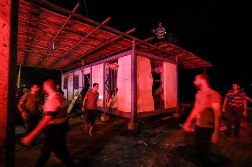 Dos explosiones en puestos de control policial en Gaza dejan…
